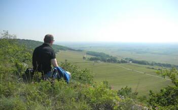 Hiking in Meursault near Beaune in Burgundy