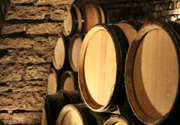 Cellar in Beaune Burgundy