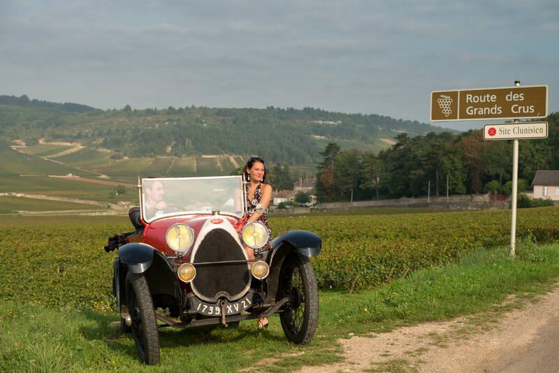 Bugatti nas vinhas, rota dos Grands Crus